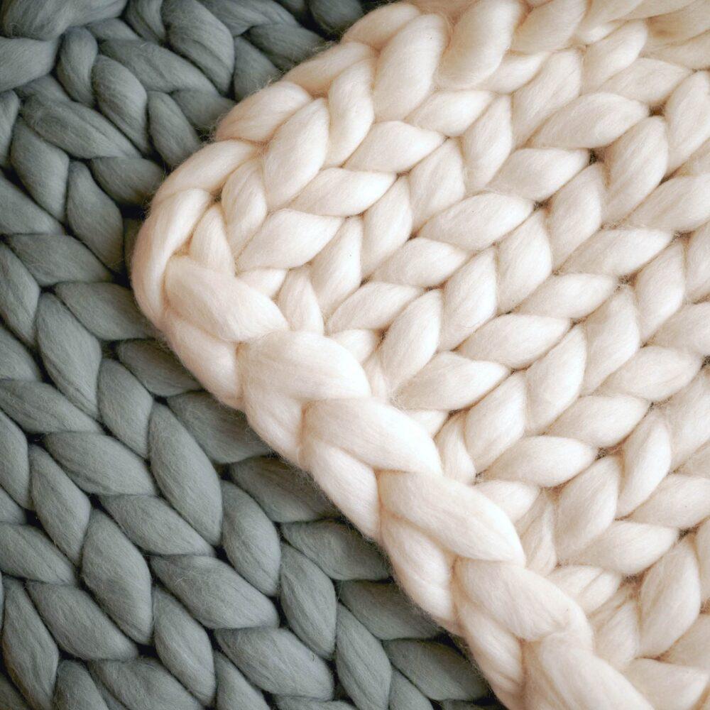 Hrubé pletené deky z merino ovčej vlny