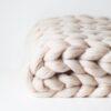 Pletená merino deka – béžová
